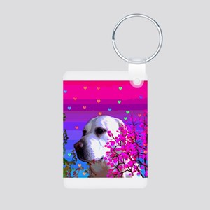 Golden Labrador Retrievers Aluminum Photo Keychain