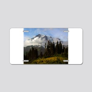 Mt. Rainier #3 Aluminum License Plate