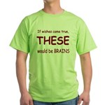 Brains Green T-Shirt