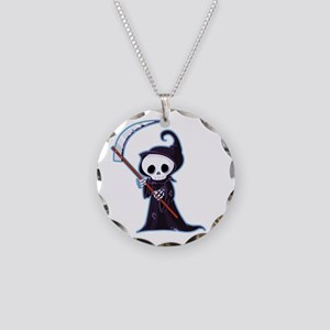Sweet Little Death Necklace Circle Charm