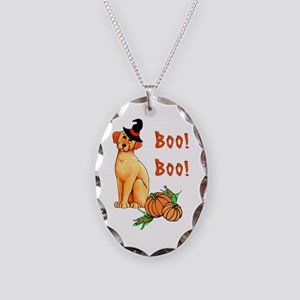 Halloween Puppy Dog Necklace Oval Charm
