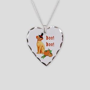 Halloween Puppy Dog Necklace Heart Charm