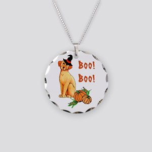Halloween Puppy Dog Necklace Circle Charm