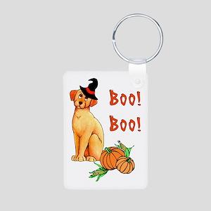 Halloween Puppy Dog Aluminum Photo Keychain