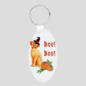Halloween Puppy Dog Aluminum Oval Keychain