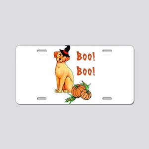 Halloween Puppy Dog Aluminum License Plate