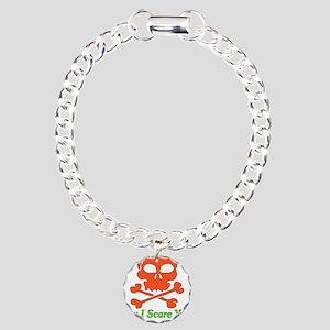 Halloween Pickup Line Charm Bracelet, One Charm