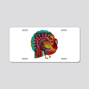 Thanksgiving Jeweled Turkey Aluminum License Plate