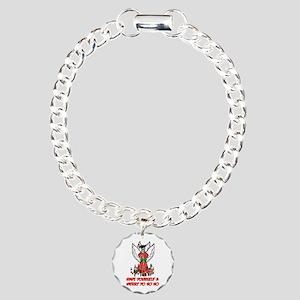 Christmas Pirate Angel Charm Bracelet, One Charm