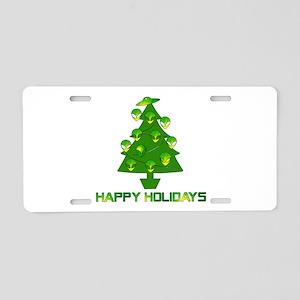 Alien Christmas Tree Aluminum License Plate