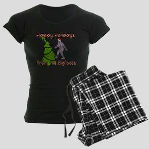 Bigfoot Christmas Women's Dark Pajamas