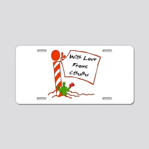 Christmas Love From Cthulhu Aluminum License Plate