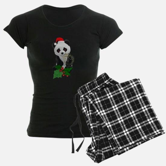 Christmas Panda Pajamas