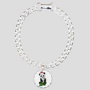 Christmas Panda Charm Bracelet, One Charm