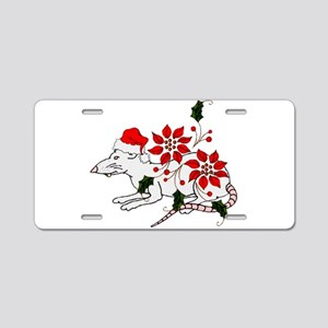 Christmas Rat Aluminum License Plate