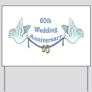 60th Wedding Anniversary Yard Sign