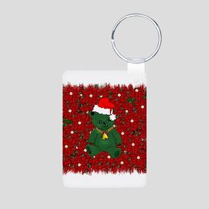 Christmas Bear Aluminum Photo Keychain