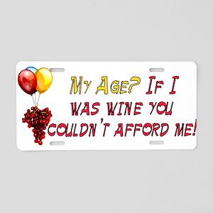 Fine Wine Aluminum License Plate