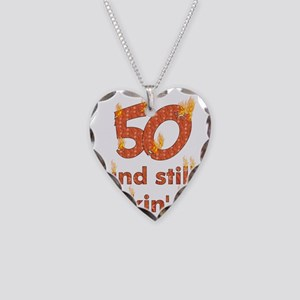 Hot Smokin' and Fifty Necklace Heart Charm