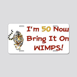 50th Birthday Tiger Aluminum License Plate
