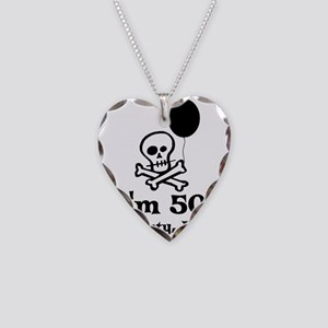 50th Birthday Party Necklace Heart Charm