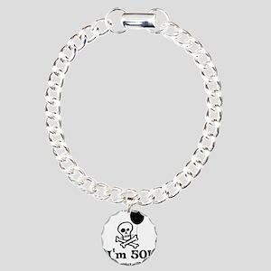 50th Birthday Party Charm Bracelet, One Charm