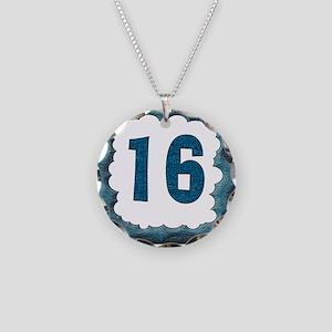 16th Birthday T-Shirts Necklace Circle Charm