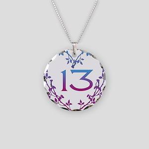 Thirteenth Birthday Necklace Circle Charm
