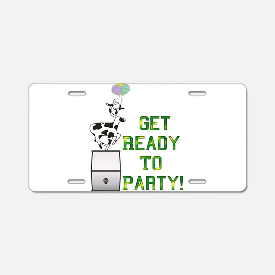 Ready To Party Aluminum License Plate