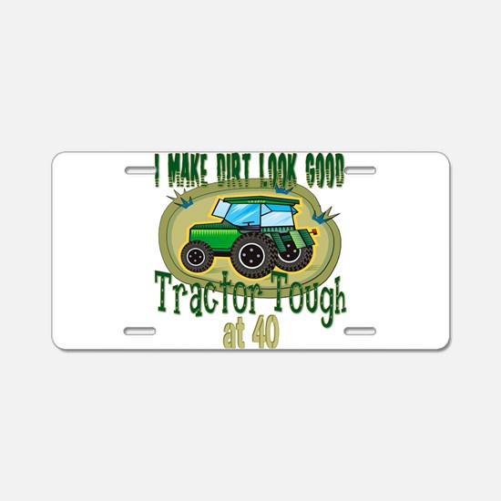 Tractor Tough 40th Aluminum License Plate