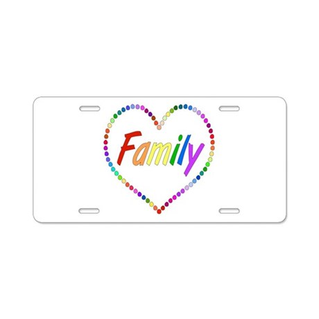 Rainbow Family Aluminum License Plate by myholidaystore