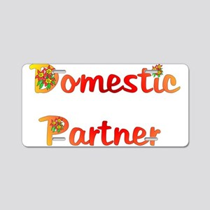 Domestic Partner Aluminum License Plate