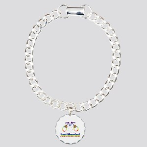 Just Married Gay Men Charm Bracelet, One Charm
