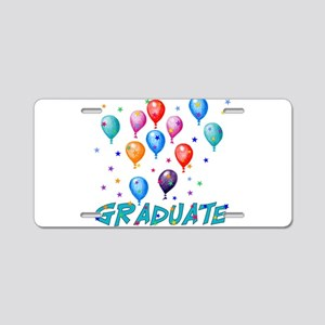 Graduation Balloons Aluminum License Plate