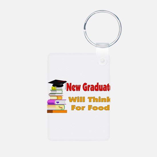 Will Think For Food Keychains