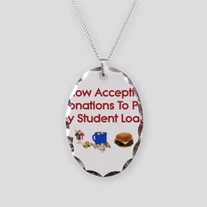 Student Loan Donations Necklace Oval Charm