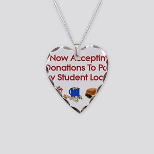 Student Loan Donations Necklace Heart Charm
