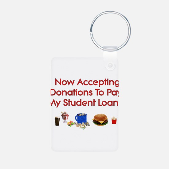 Student Loan Donations Aluminum Photo Keychain