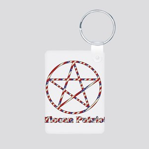 Wiccan Patriot Aluminum Photo Keychain