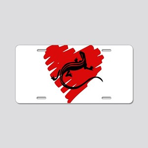 Heart Of Newt Anti-Valentine Aluminum License Plat
