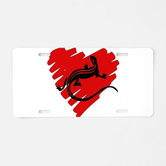 Heart Of Newt Anti-Valentine Aluminum License Plat