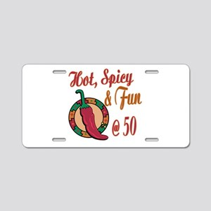 Hot N Spicy 50th Aluminum License Plate