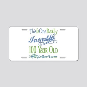 Incredible 100th Aluminum License Plate