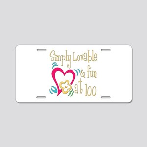 Lovable 100th Aluminum License Plate