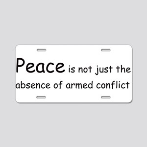 Peace Conflict Aluminum License Plate