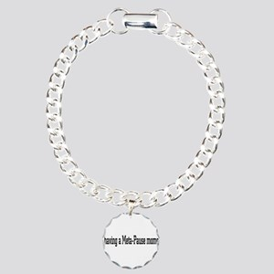 Meta-Pause Charm Bracelet, One Charm