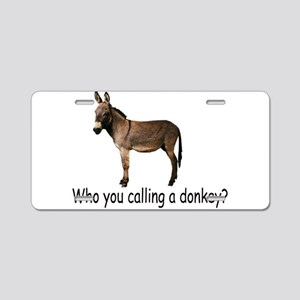 Poker Donkey Aluminum License Plate