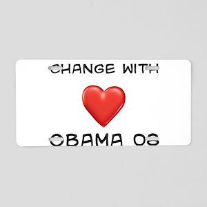 Obama Change Aluminum License Plate