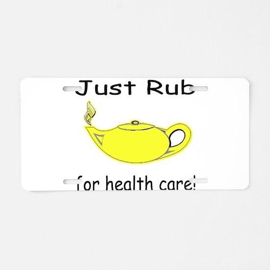 Rub Health Aluminum License Plate