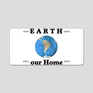Earth Home Aluminum License Plate